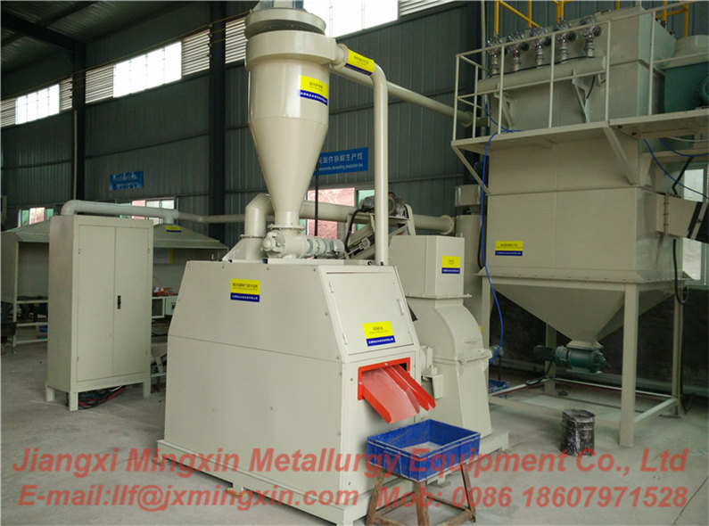 Compact PCB recycling line with air separation